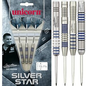 Unicorn-Silver-Star-Pro-Players-Darts-21g-22g-23g-24g-25g-26g-27g-28g-30g-grams
