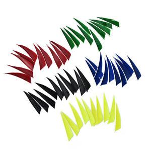 "20pcs//lot 3/"" shield cut fletching arrow feathers turkey feather arrow fletche kd"