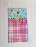 100 Fashion Tags Boutique/accessories Tags Floral/pink Plaid W/self-lock Loops
