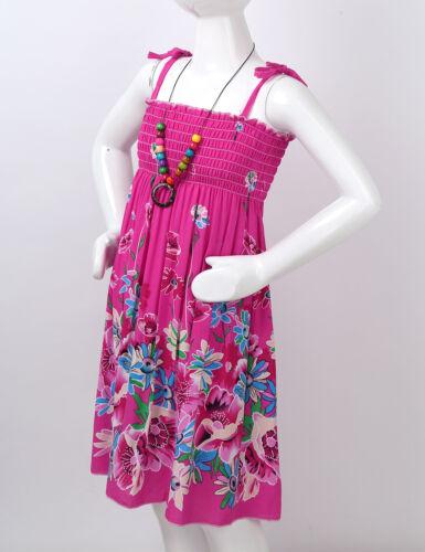 Girls Sunflower Bohemian Princess Dress Kids Rainbow Summer Sleeveless Sundress