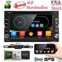 Android 6.0 OS Double 2Din Car DVD Player With GPS Navi BT 3G Wifi Stereo Radio