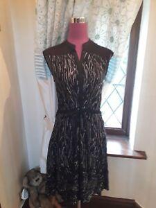 Dress Stunning All Philomena Nero Taglia 10 Bnwot 6 6 Saints vFwFSB