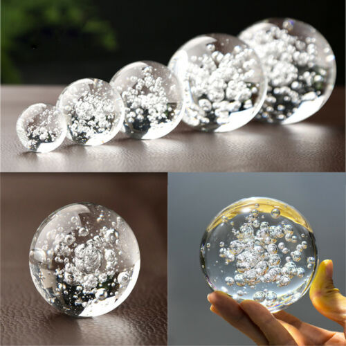 Nice Bubble Glass Crystal Ball Healing Sphere Photography Props Lensball Decor