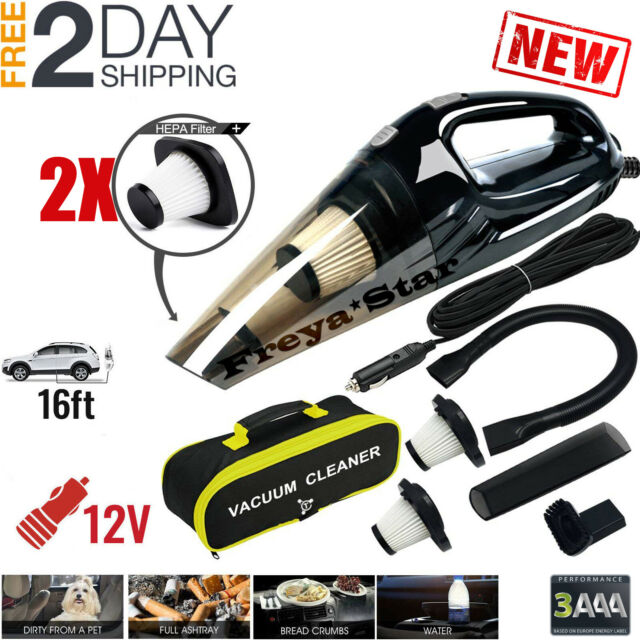 Car Vacuum Cleaner >> Car Vacuum Cleaner 12v For Auto Mini Hand Held Wet Dry Small Portable 12 Volt