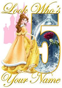 Disney Princess Jasmine Personalised Girls T-Shirt Age 8 Ideal Gift//Present