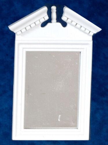 Accessori Casa Delle Bambole-Bianco Specchio incorniciato