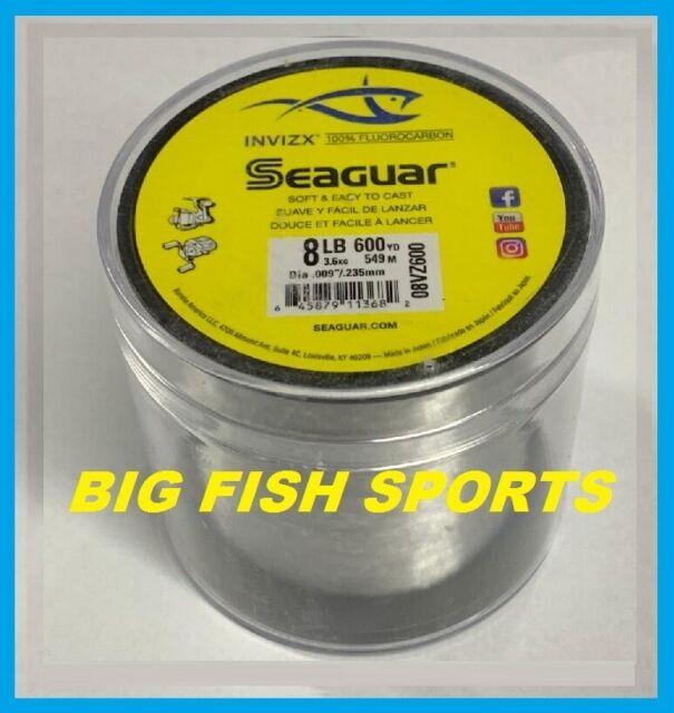 SEAGUAR INVIZX 100% Fluorocarbon Line 8lb/600yd 8VZ600 FREE USA SHIP! 08VZ600
