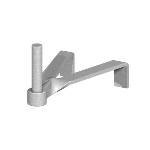 "Gate Hinge Hook To Build For 4.5/"" or 9/"" Brickwork 19mm Pin 12mm"