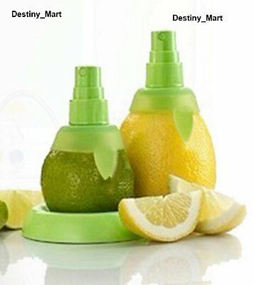 Neu 2x Zitruspresse Zerstäuber Saftpresse Citrus Spray Zitrone Orange Limette UK