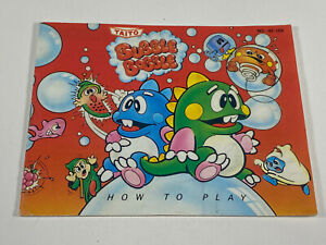 Bubble Bobble NES Nintendo Original Instruction Manual Booklet Only