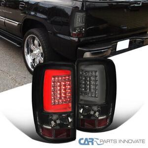 For 00-06 Suburban Tahoe Yukon XL Smoke Lens LED Bar Tinted Tail Brake Lights
