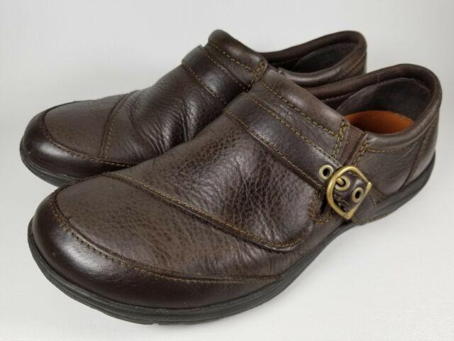 Merrell Women's Dassie Espresso Leather Buckle Slip On Size 8 Brown