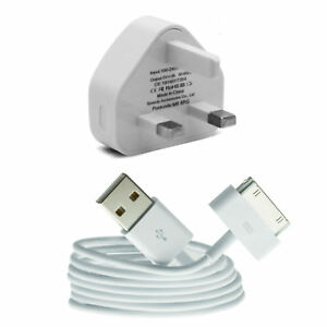 Wall-Plug-Mains-Charger-USB-Lead-iPad-123-iPod-iPhones-4-4S-3G-3GS-Data-Cable