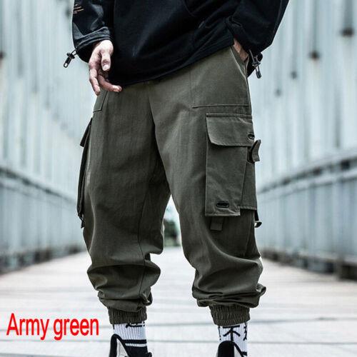 Men/'s Multi Pockets Streetwear Cargo Harem Pants Casual Hip Hop Harajuku Pants