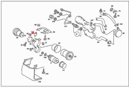 Genuine Mercedes Buffer W108 W109 C107 C123 C126 R107 S123 W111 1269880011