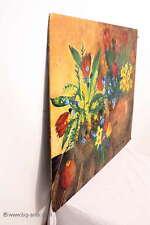 Tolles altes Gemälde / Öl Gemälde auf Holz / Stilleben Signiert Kräftige Farben