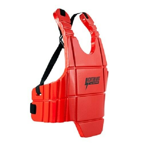 Lightning Sports Body Guard Sparring Chest Predector Karate Tae Kwon Do - Red