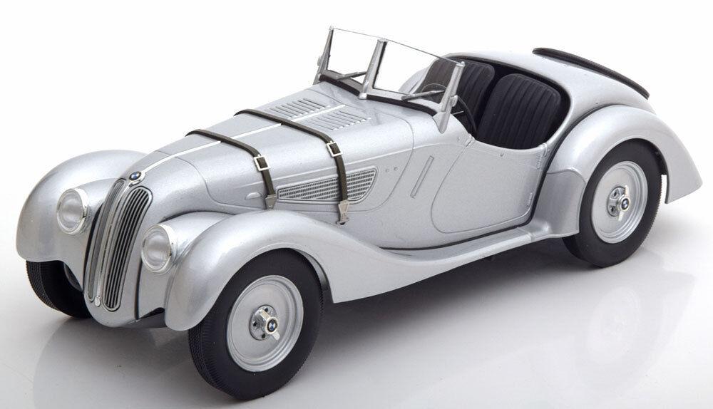 Minichamps 1936-1940 BMW 328 Roadster Argent Couleur en 1  18 Échelle Neuf  vente de sortie