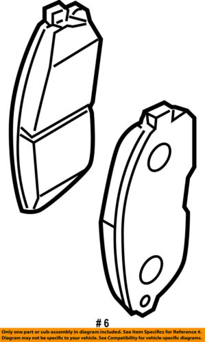 NISSAN OEM 09-14 Maxima Brake-Front Pads D10609N00A