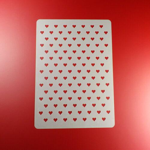 A4 Schablone Herz Herzchen Muster BM406