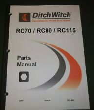 Ditch Witch Rc70 Rc80 Rc115 Reel Carrier Parts Book Manual Catalog