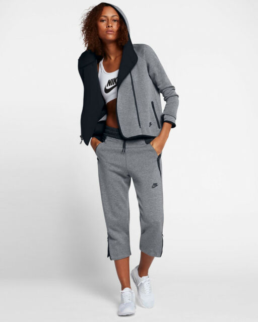 Nike Sportswear Tech Fleece Women's Full Zip Cape Hoodie XL Gray New