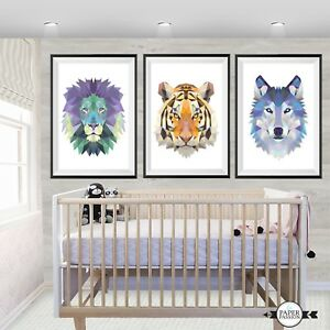 Nursery Wall Prints,Boys wall prints, Animal wall prints,Kids wall prints decor