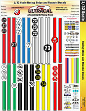 MG3303 - 1/32 UltraCal High Def Slot Car Decals Stripes and Roundels