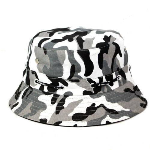Fashion Seau Outdoor Camouflage Chapeau De Pêcheur Chapeau Visière Chapeau Soleil Hommes Femmes