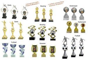 Pokale 3er Serien zur Wahl:Skat/Rommé,Bowling,Darts,Karaoke,Fußball ab 18,95 EUR