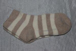 NWOT-Brown-Stripe-Ankle-Socks-Free-Size