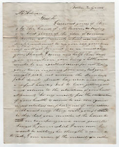 1823 Boston Massachusetts Manuscrit Lettre Holman Correspondance Samuel U1CiThPd-09152904-846452972