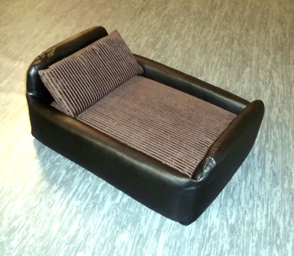 ZIPPY FAUX LEATHER JUMBO CORD DIVAN PET DOG CAT BED SOFA removable loose covers