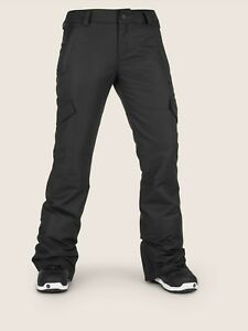 2019-NWT-WOMENS-VOLCOM-BRIDGER-INSULATED-PANTS-S-Black-modern-slim-fit