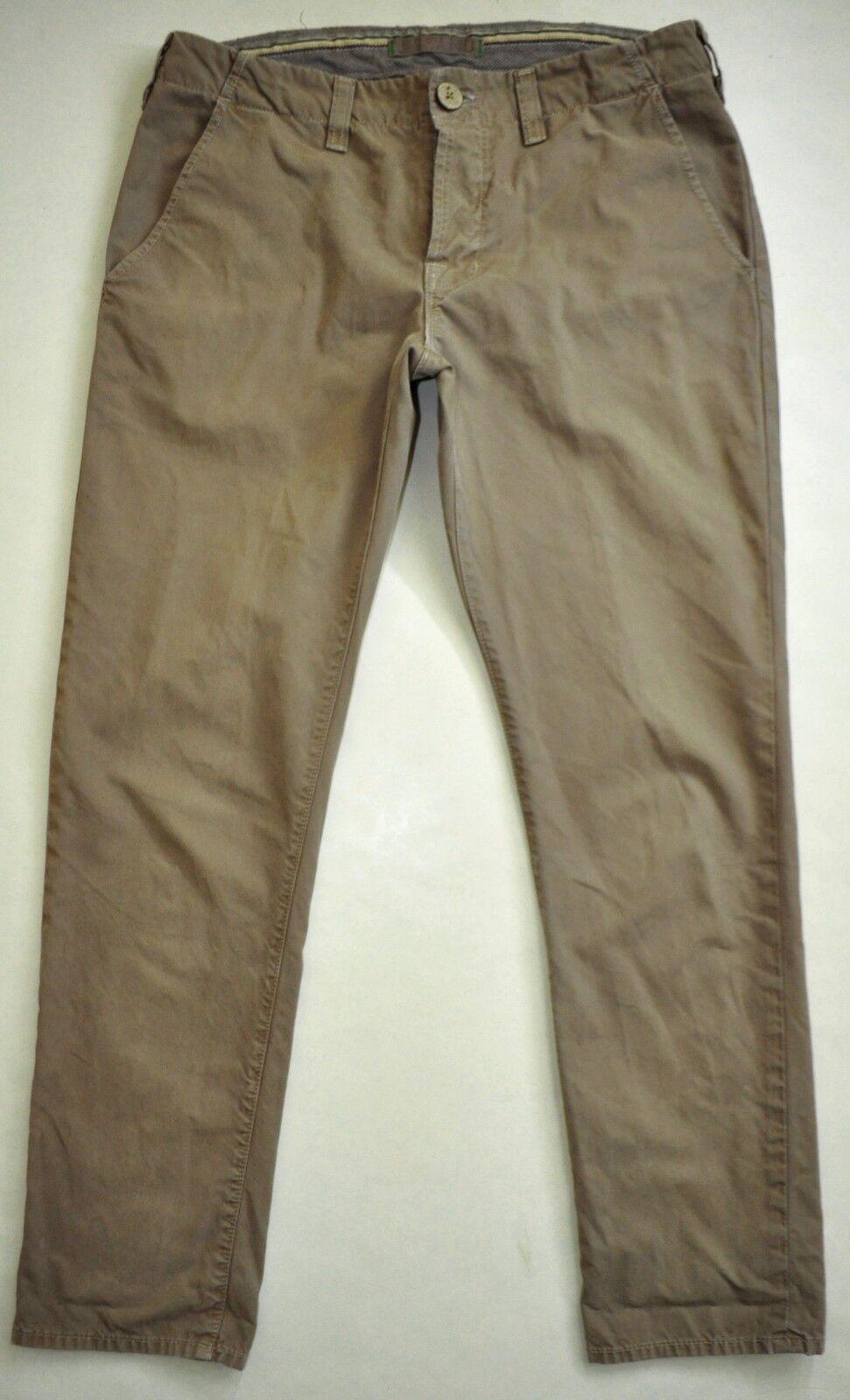 J Brand Taupe Slouchy Boyfriend Khaki Pants Button Fly Size 28 X 28 1 4 AWESOME