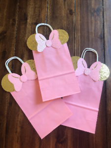 Details About 10 Mickey Mouse Or Minnie Birthday Party Favor Bags
