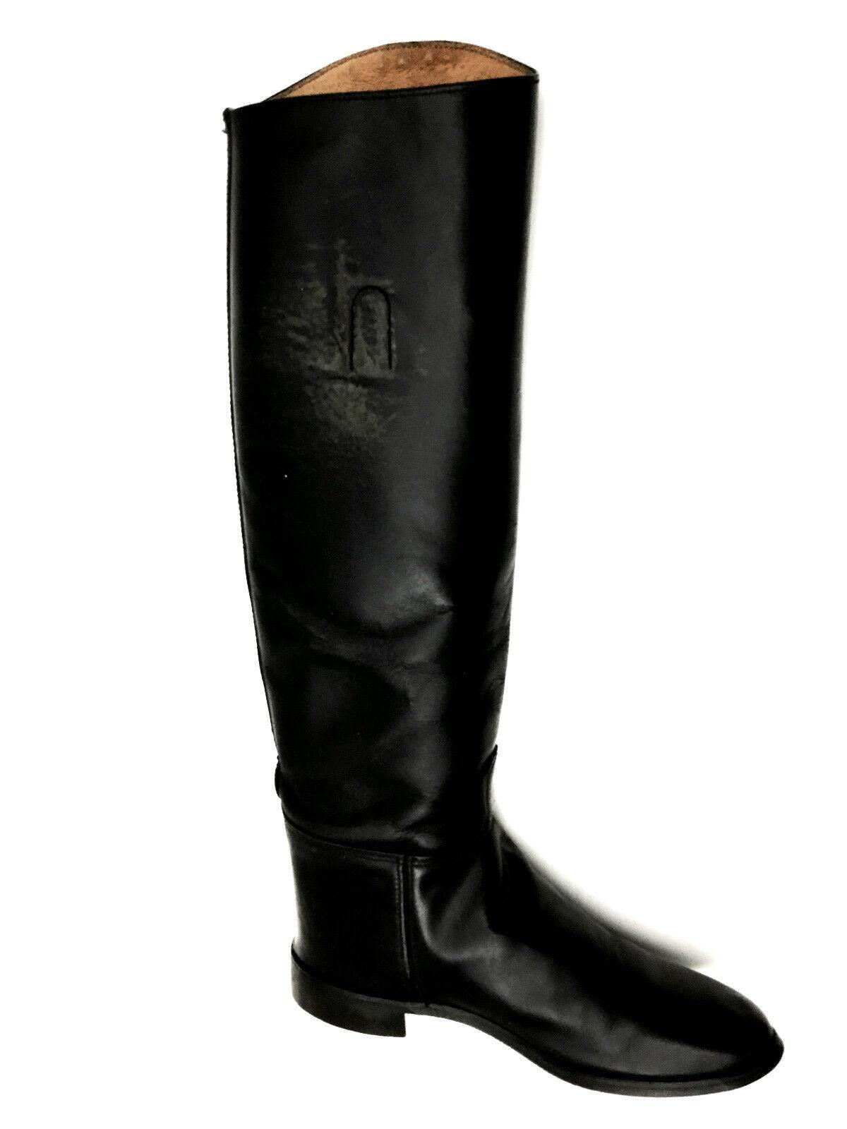 Equestrain RidingLeather Cat's Paw USA Black Boots Size 7 USA Paw dfa4bd