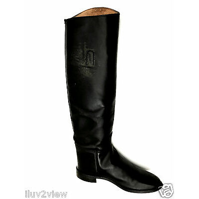 Equestrain RidingLeather Cat's Paw Black Boots Size 7 USA