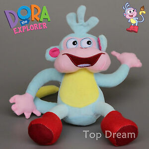 New-Cartoon-Dora-the-Explorer-Boots-The-Monkey-Soft-Plush-Doll-Toy-10-039-039-Ted-Gift