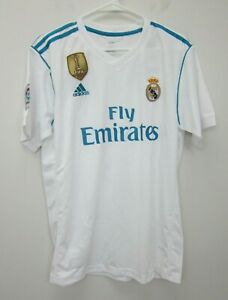 adidas-Super-Boss-1-Real-Madrid-White-S-S-Champions-Jersey-Mens-XL-White