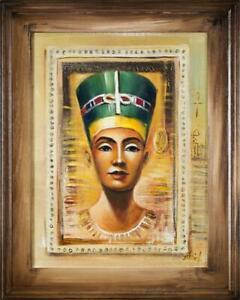 Agypten-Kleopatra-Ol-Olbild-bild-Bilder-Gemaelde-Olgemaelde-mit-Rahmen-G16379