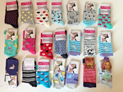 20 Pairs Luxury Women/'s Ladies Design Coloured Socks Cotton UK Size 4-7 MKVMF