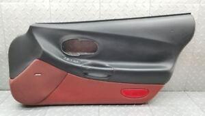 97 04 corvette c5 black and firethorn red door panel front - C5 corvette interior door panels ...