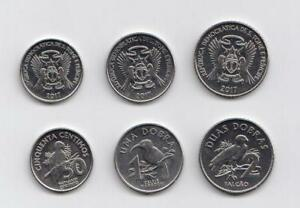 New-Sao-Tome-amp-Principe-Coins-2017-Set-of-3-coins-all-in-mint-condition