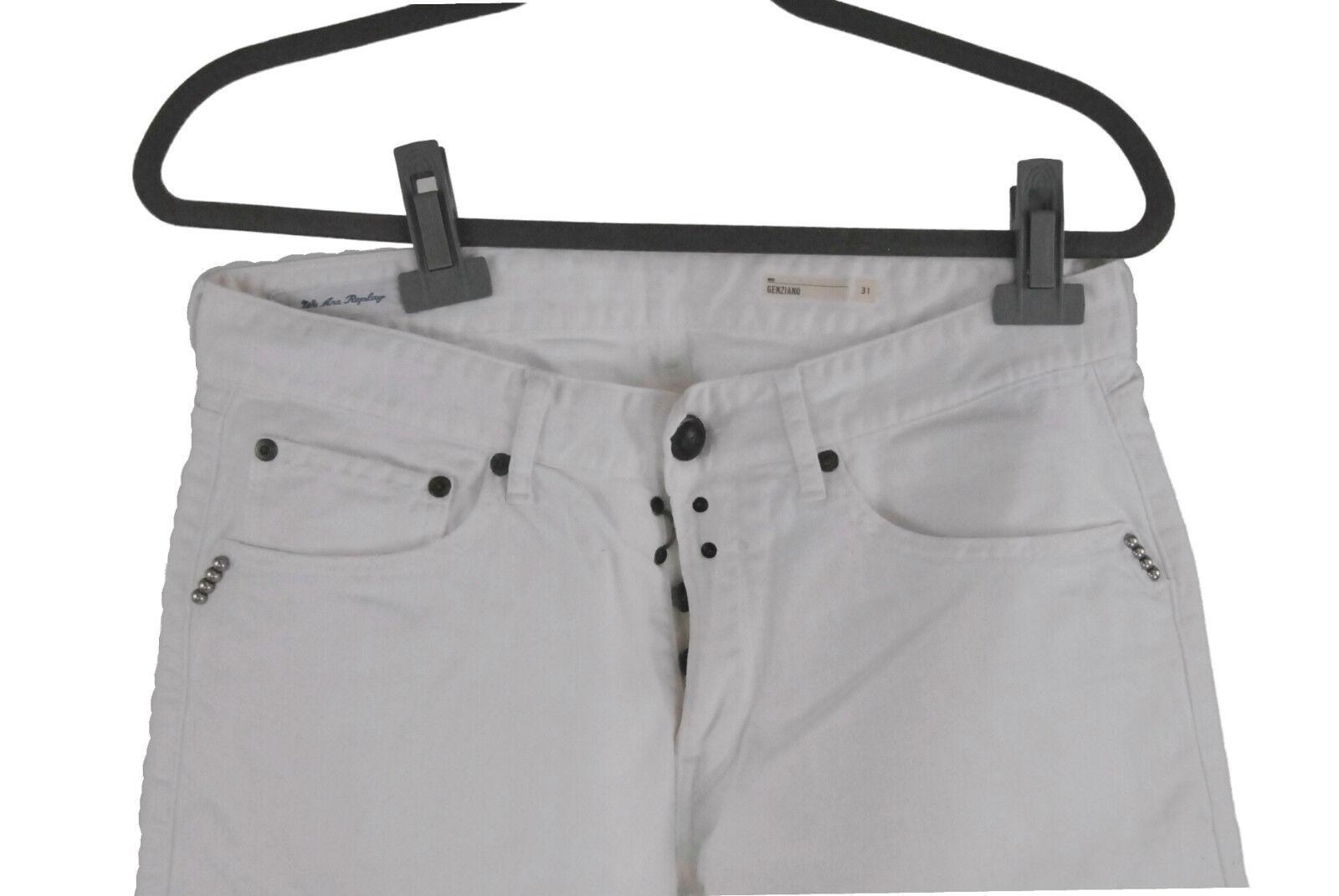 REPLAY Jeans Homme W 31 L 34 blanc genziano stretch coton avec stretch genziano comme neuf Pantalon baab46