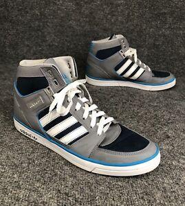 Untado Turismo obvio  Adidas EVH 791004 Gray Blue High Top Athletic Shoe Sneaker Mens Sz 9 *Near  Mint* | eBay