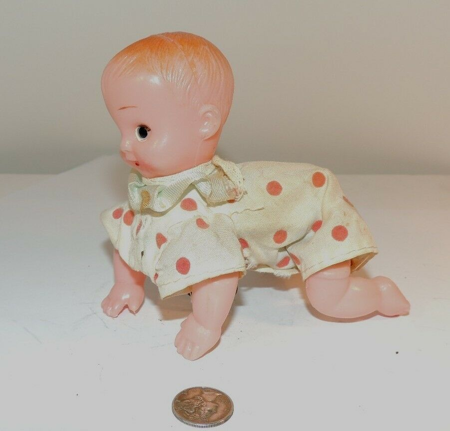 Wind Up Celluloid Crawling Baby  7273