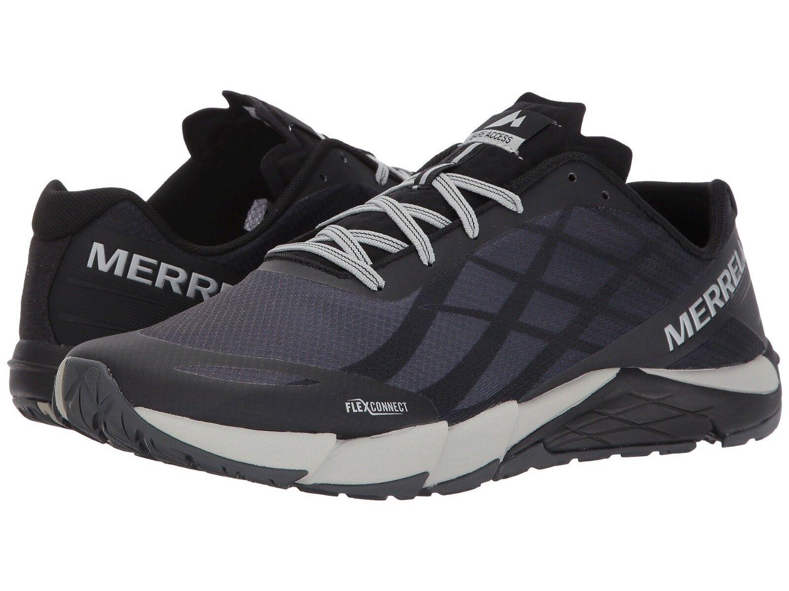 El nuevo estilo masculino merrell Bare Access Flex, zapatos de correa de encaje plateado negro.