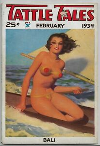 TATTLE-TALES-VINTAGE-GGA-SPICY-ROMANCE-PULP-MAGAZINE-Feb-1934-Jack-Woodford