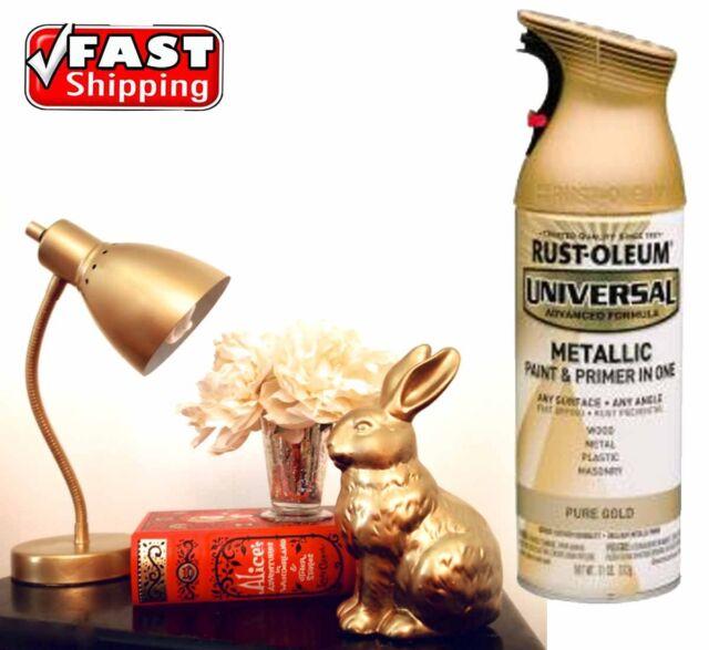 RUSTOLEUM Metallic Pure Gold Spray Paint Aerosol Can 312g Rust-Oleum All Purpose
